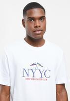 Factorie - Regular graphic T-shirt - white