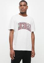 Factorie - Regular graphic T-shirt - grey