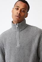 Cotton On - Quarter zip knit - grey