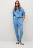 MANGO - Trousers maxime8 - light pastel blue