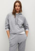 MANGO - Trousers maxime8 - light pastel grey