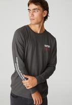 Cotton On - Tbar collab long sleeve t-shirt - charcoal
