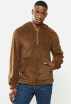 STYLE REPUBLIC - Sherpa hoodie - brown