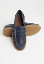 Grasshoppers - Deckskin loafer leather sandiego - navy