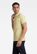 G-Star RAW - Dunda slim polo short sleeve - yellow