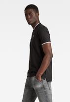 G-Star RAW - Sport collar slim polo short sleeve - black