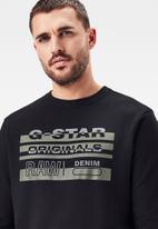 G-Star RAW - Originals r long sleeve sweats - black