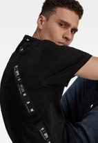 G-Star RAW - Sport a tape r short sleeve tee - black
