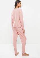 Superbalist - Rib sleep set - dusty pink