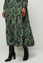 edit - Wide hem gyspy maxi dress - multi