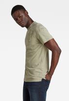 G-Star RAW - Military 3d woven pocket r tee - green