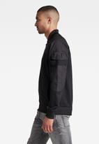 G-Star RAW - Mixed cargo bomber jacket - black