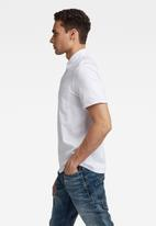 G-Star RAW - Summer contrast polo t - white