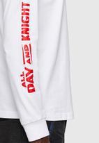 Diesel  - T-diegos-ls-k20 t-shirt- white