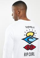Rip Curl - Search logo long sleeve tee - white