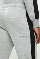Original Penguin - Stripe fleece sweatpant - grey