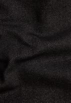 G-Star RAW - Half zip bound tweeter t long sleeve - black