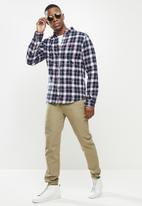 Superdry. - Heritage lumberjack shirt - navy
