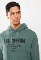 Lee  - Keep it real hooded sweat - blue