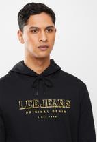 Lee  - Original denim hoodie - black