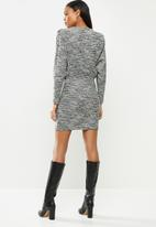 MANGO - Dress opra - black & white