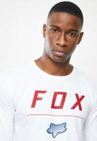 Fox - Headline long sleeve - white