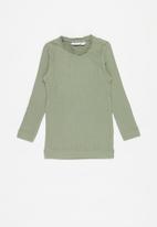 name it - Rosemarie slim fit top - grey green