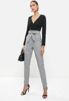 Sissy Boy - Bad wave paperbag jumpsuit - black & white
