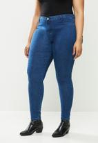 Missguided - Plus anarchy mid rise skinny jeans - blue