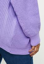 Missguided - Plus balloon midaxi sleeve cardigan - purple