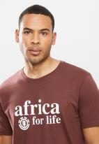Element - Africa 4 life short sleeve tee - burgundy