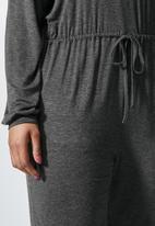 Superbalist - Wide neck drawstring jumpsuit - charcoal