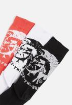 Diesel  - Skm-ray three pack socks - multi