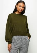 edit - Drop shoulder jumper - moss green