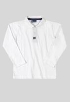 Quimby - Boys single jersey polo shirt - white