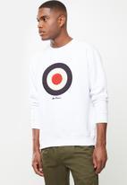 Ben Sherman - Target sweat top - white