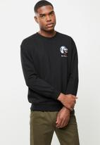 Ben Sherman - Cat crew top - black