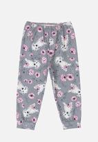 Quimby - Girls printed pants - grey