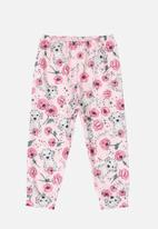 Quimby - Girls printed pants - light pink