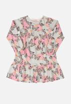 Quimby - Girls elastane jersey dress - light pink