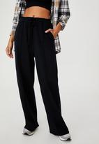 Cotton On - Kora wide leg track pants - washed black