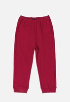 Quimby - Ribbed pants - dark red
