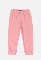 Quimby - Baby girls ribbed pants - pink