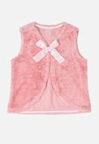 Quimby - Girls faux fur vest - pink