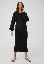 Cotton On - Maternity friendly ultimate pullover - black
