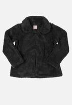 Quimby - Girls faux fur jacket - black