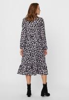 Vero Moda - Charlotte long sleeve smock dress - black & pink
