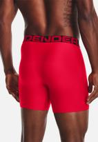 Under Armour - Ua tech 6in 2 pack - red & black