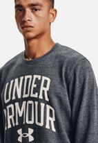 Under Armour - Ua rival terry crew - pitch grey full heather / onyx white