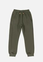 Quimby - Sweatpants with quilted details - green